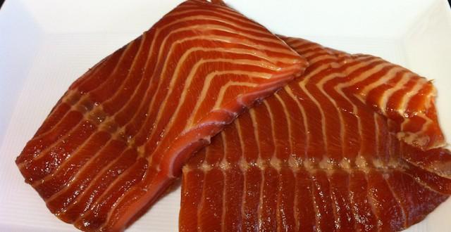 Salmón con marinado Oriental