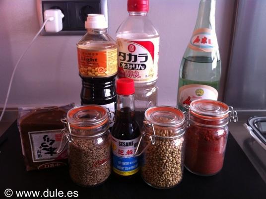 Ingredientes Pechuga marinada oriental
