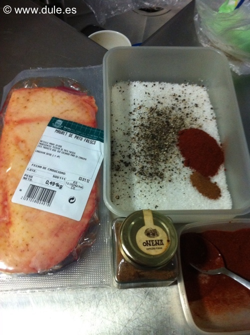 Ingredientes del jamon de pato