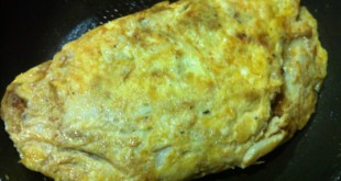 Tortilla de Bacalao y cebolla pochada