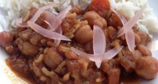 Curry de Garbanzos con Arroz Basmati