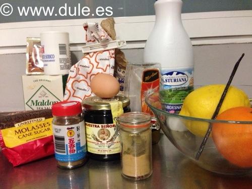 Ingredientes Pan de Especias