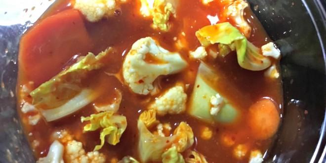 Coliflor encurtida al Kimchee