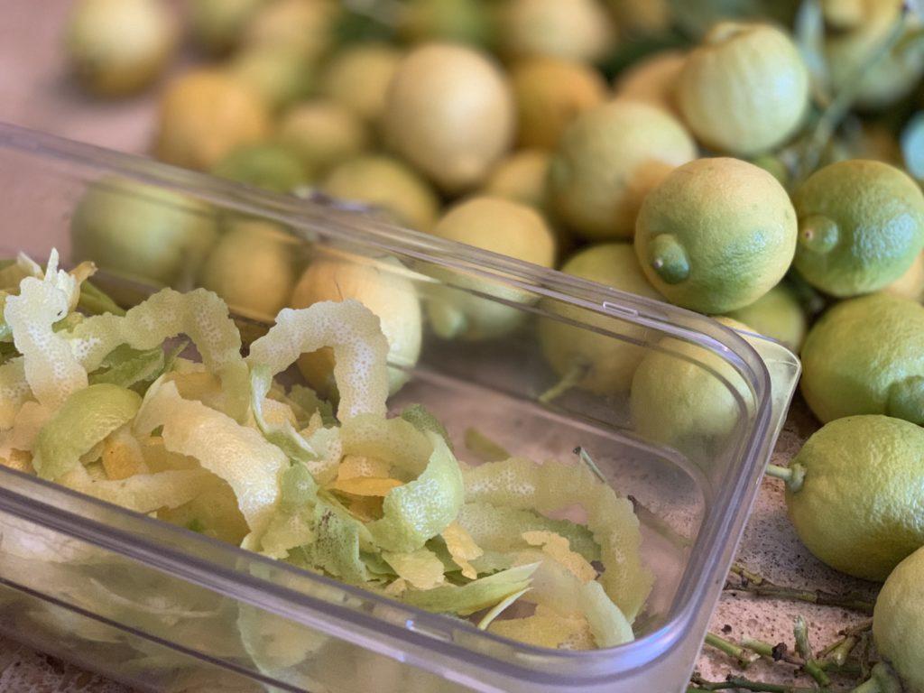 cascaras de limones